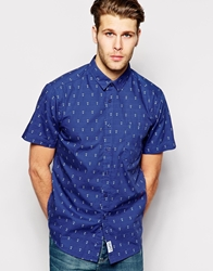 Clwr Shirt With Anchor Print Short Sleeves Patriotanchor