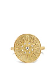 Orit Elhanati The Letter M Diamond And Yellow Gold Ring