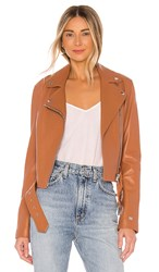 Soia And Kyo Clodia Moto Jacket In Brown. Cinnamon
