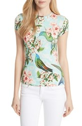 Ted Baker London Tilldar Nectar Fitted Tee Pale Green