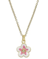 Lily Nily Children's 18K Gold Over Sterling Silver Necklace Flower Pendant