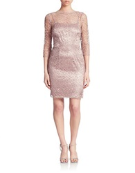 Cachet Lace Sheath Dress Mauve