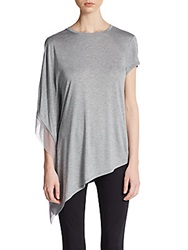 Bcbgmaxazria Laguna One Sleeve Asymmetrical Tunic Heather Grey