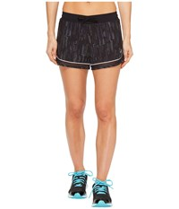 Asics Lite Show 3 N 1 Shorts Raindrop Print Women's Shorts Orange