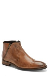 Men's Bacco Bucci 'City' Zip Boot Tan Leather