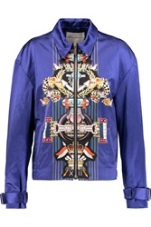 Mary Katrantzou Printed Cotton And Silk Blend Bomber Jacket