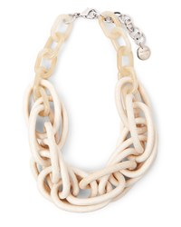 Jaeger Resin Bone Effect Necklace Neutral