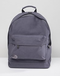 Mi Pac Canvas Backpack In Charcoal Grey