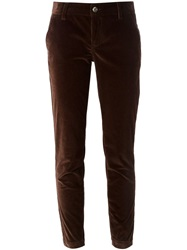 Dolce And Gabbana Corduroy Slim Trousers Brown