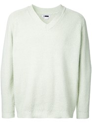 H Beauty And Youth V Neck Sweatshirt Green