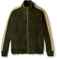 Fanmail Organic Cotton Velour Track Jacket Green