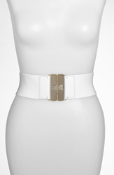 Lauren Ralph Lauren Stretch Belt With Interlocking Buckle White White
