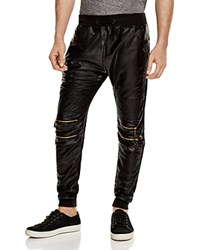 American Stitch Faux Leather Jogger Pants Compare At 87 Black