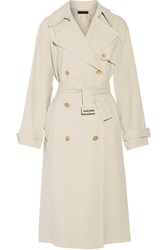 The Row Romtin Cotton Canvas Trench Coat Cream