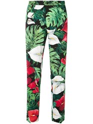 Dolce And Gabbana Floral Print Trousers Multicolour