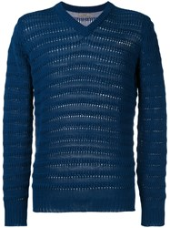 Nuur Ribbed Detail Sweatshirt Blue
