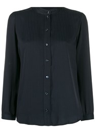 A.P.C. Long Sleeve Fitted Blouse Blue