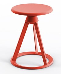 Knoll Piton Outdoor Fixed Height Stool Red Coral Same As Base Finish Multicolor