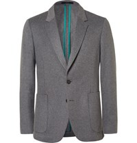 Paul Smith Grey Soho Slim Fit Wool And Cashmere Blend Blazer Gray