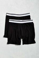 Urban Outfitters Uo Basic Boxer Brief 2 Pack Black