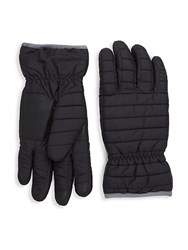 Saks Fifth Avenue Quilted Gloves Black