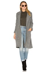 Michael Stars Yak Notch Collar Coat Gray