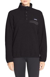 Women's Patagonia 'Synchilla' Lightweight Pullover Black Forge Grey