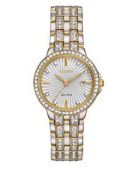 Citizen Silhouette Two Tone And Swarovski Crystal Watch Ew2344 57A