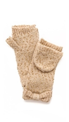 Kate Spade Cosmic Sequined Mittens Pebble
