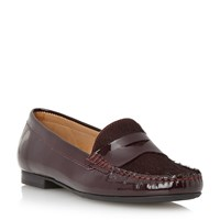 Episode Galilee Pony Detail Loafers Burgundy