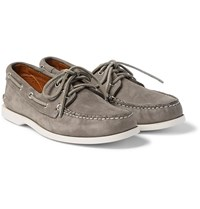 Quoddy Downeast Nubuck Boat Shoes Gray