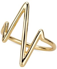 Sarah Chloe Heartbeat Ring In Sterling Silver Or 14K Gold Plated Sterling Silver Gold Over Silver