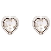 Ted Baker Hanella Swarovski Crystal Heart Stud Earrings Silver