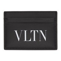 Valentino Black Garavani Vltn Card Holder