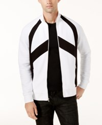Inc International Concepts Men's Pieced Zip Front Jacket Created For Macy's White Pure