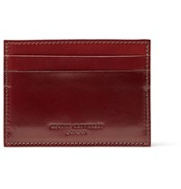 George Cleverley Horween Shell Cordovan Leather Cardholder Tan