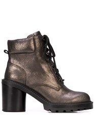 Marc Jacobs Crosby Hiking Boot Silver