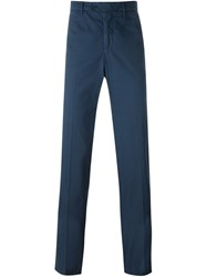 Aspesi Slim Chino Trousers Blue