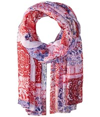 Bindya Floral And Paisley Mix Scarf Multi Scarves