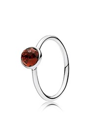 Pandora Design Ring Sterling Silver And Glass January Droplet