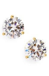 Nordstrom Women's Precious Metal Plated 3Ct Tw Cubic Zirconia Earrings