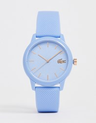 Lacoste 12.12 Silicone Watch In Blue