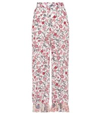 See By Chloe Printed Cropped Trousers Multicoloured