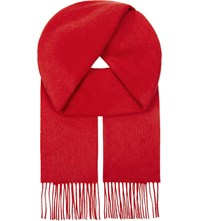 Johnstons Cashmere Check Scarf Red