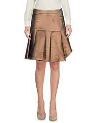 Le Ragazze Di St. Barth Knee Length Skirts Khaki