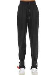 Off White Nylon Track Pants Black