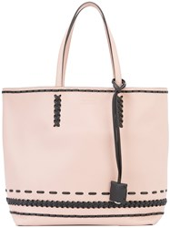 Tod's Braided Detail Tote Women Leather One Size Nude Neutrals