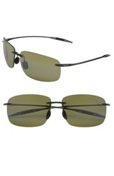 Maui Jim Women's 'Breakwall Polarizedplus2' 63Mm Rimless Sunglasses Smoke Grey