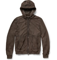 Berluti Packable Nubuck Jacket Brown