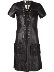 Jean Paul Gaultier Vintage Laced Leather Dress